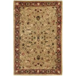 Safavieh Handmade Persian Legend Gold/ Rust Wool Rug - 2' x 3' - Thumbnail 0