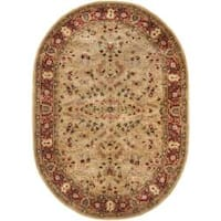 "Safavieh Handmade Persian Legend Gold/ Rust Wool Rug - 7'6"" x 9'6"" oval"