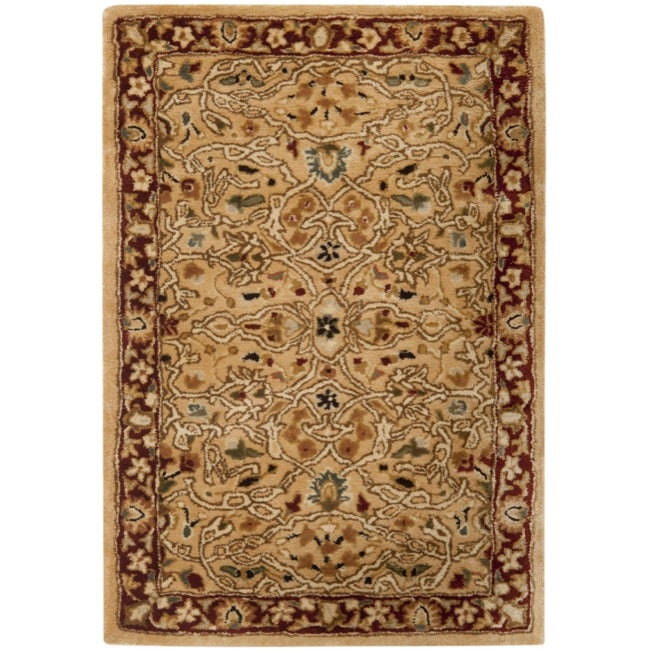 Safavieh Handmade Persian Legend Ivory/Rust Oriental Wool Rug (2' x 3')