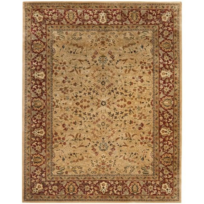 Safavieh Handmade Persian Legend Ivory/ Rust Traditional Wool Rug (7'6 x 9'6)