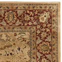 Safavieh Handmade Persian Legend Ivory/ Rust Traditional Wool Rug (7'6 x 9'6) - Thumbnail 1