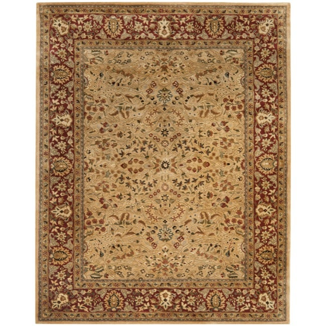 Safavieh Handmade Persian Legend Ivory/ Rust Wool Rug (8'3 x 11') - Thumbnail 0