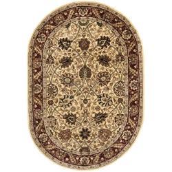 Safavieh Handmade Persian Legend Ivory/ Red Wool Rug (5' x 8' Oval)