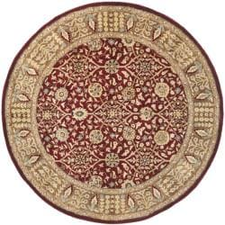 Safavieh Handmade Persian Legend Red/ Light Brown Wool Rug (6' Round)