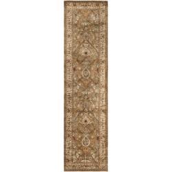 Safavieh Handmade Persian Legend Light Green/ Beige Wool Rug (2'6 x 10')