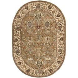 "Safavieh Handmade Persian Legend Light Green/Beige Oval Wool Rug (7'6"" x 9'6"")"