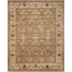 Safavieh Handmade Persian Legend Light Green/ Beige Wool Rug (9'6 x 13'6)