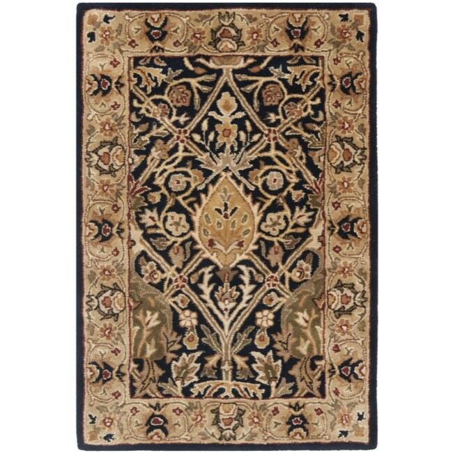 Safavieh Handmade Persian Legend Blue/ Gold Wool Rug (2' x 3')