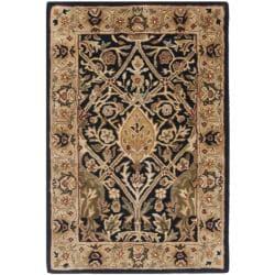 Safavieh Handmade Persian Legend Blue/ Gold Wool Rug (2' x 3') - Thumbnail 0