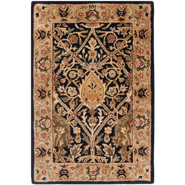 Safavieh Pl537a Persian Legend Wool Hand Tufted Rust Navy: Shop Safavieh Handmade Persian Legend Blue/ Gold Wool Rug