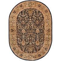 Safavieh Handmade Persian Legend Blue/ Gold Wool Rug - 5' x 8' Oval