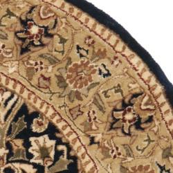Safavieh Traditional Handmade Persian Legend Blue/ Gold Wool Rug (7'6 x 9'6) - Thumbnail 1