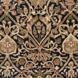 Safavieh Traditional Handmade Persian Legend Blue/ Gold Wool Rug (7'6 x 9'6) - Thumbnail 2