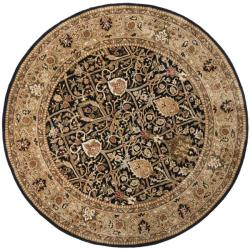 Safavieh Traditional Handmade Persian Legend Blue/Gold Wool Rug (8' Round)