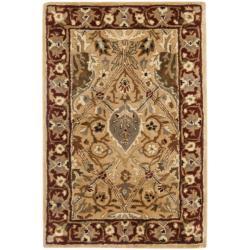 Safavieh Handmade Persian Legend Ivory/ Rust Wool Rug (2' x 3')
