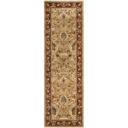 Safavieh Handmade Persian Legend Ivory/Rust Oriental Wool Rug (2'6 x 12')