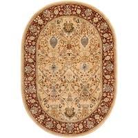 "Safavieh Handmade Persian Legend Oval Ivory/ Rust Wool Rug - 7'6"" x 9'6"" oval"
