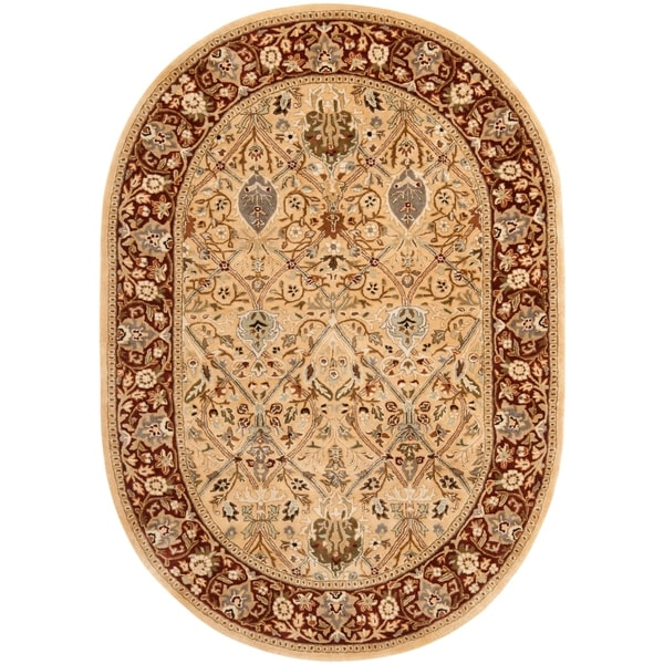 Shop Safavieh Handmade Persian Legend Ivory Rust Wool Area: Shop Safavieh Handmade Persian Legend Oval Ivory/ Rust