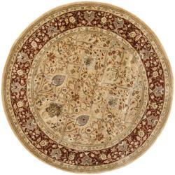 Safavieh Handmade Persian Legend Ivory/ Rust Wool Rug (3'6 Round)