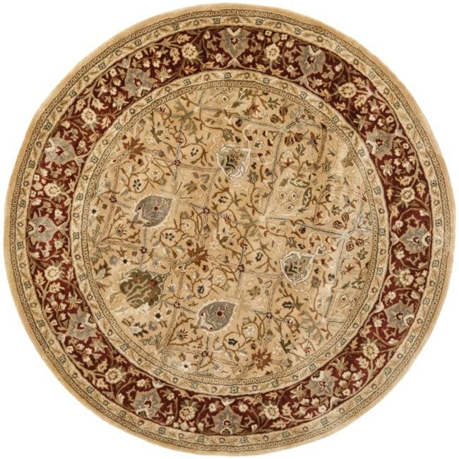 6 Round Persian Area Rugs Gold Wool Oriental Carpet: Shop Safavieh Handmade Persian Legend Ivory/ Rust Wool Rug