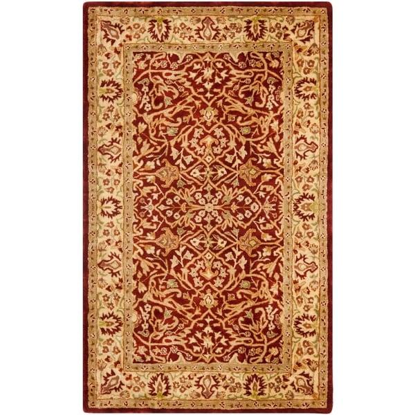 Shop Safavieh Handmade Persian Legend Rust/ Beige Wool Rug