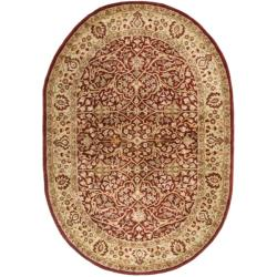 Safavieh Handmade Persian Legend Rust/ Beige Wool Rug (5' x 8' Oval)