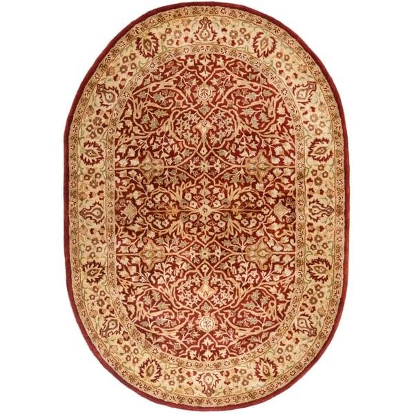 Safavieh Handmade Persian Legend Light Green Rust New: Shop Safavieh Handmade Persian Legend Oval Rust/ Beige