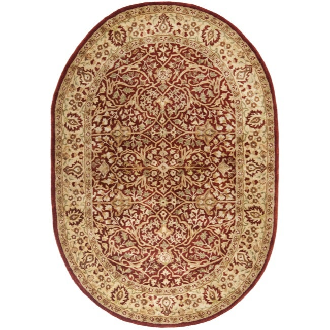 "Safavieh Handmade Persian Legend Rust-and-Beige Oval Wool Rug (7'6"" x 9'6"")"