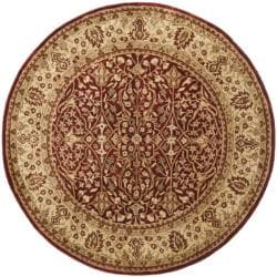 Safavieh Handmade Persian Legend Rust/ Beige Wool Rug (6' Round)