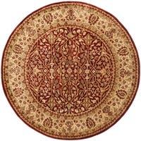 Safavieh Handmade Persian Legend Rust/ Beige Wool Rug - 6' x 6' Round
