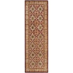 "Safavieh Handmade Persian Legend Beige Wool Rug - 2'6"" x 12' - Thumbnail 0"