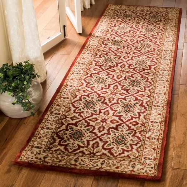 "Safavieh Handmade Persian Legend Beige Wool Rug - 2'6"" x 12'"