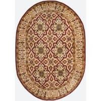 Safavieh Handmade Persian Legend Beige Wool Rug - 5' x 8' Oval