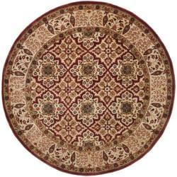 Safavieh Handmade Persian Legend Beige Wool Rug (3'6 Round)