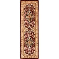 "Safavieh Handmade Persian Legend Red/ Beige Wool Rug - 2'6"" x 10'"