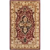Safavieh Handmade Persian Legend Red/ Beige Wool Rug - 3' x 5'