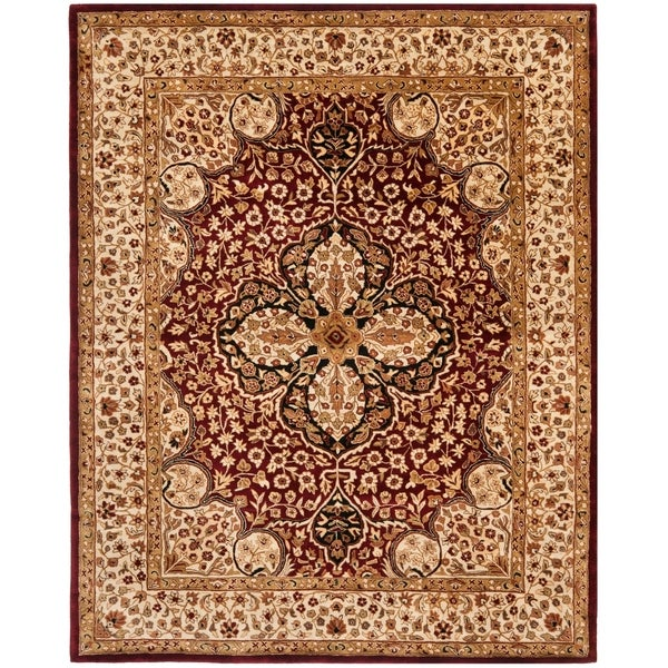 "Safavieh Handmade Persian Legend Red/ Beige Wool Rug - 7'-6"" x 9'-6"""