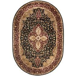 Safavieh Handmade Persian Legend Black/ Red Wool Rug (5' x 8' Oval)