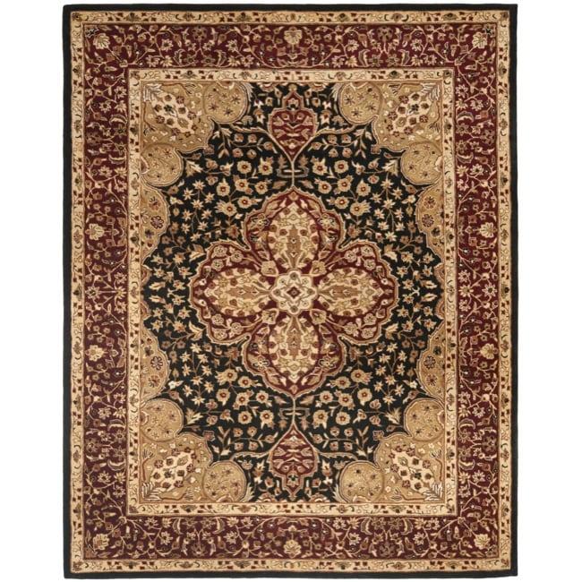 Safavieh Handmade Persian Legend Black/ Red Wool Rug (7'6 x 9'6)