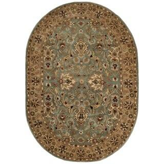 Safavieh Handmade Persian Legend Blue/ Gold Wool Rug (5' x 8' Oval)