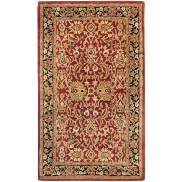 Safavieh Handmade Persian Legend Rust/ Black Wool Rug - 2'6 x 4'