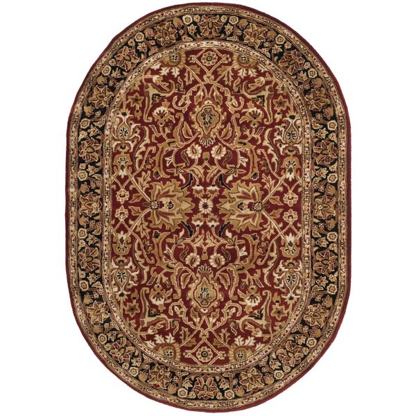 Safavieh Handmade Persian Legend Rust/ Black Wool Rug (5' x 8' Oval)