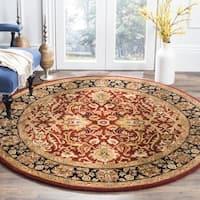 "Safavieh Handmade Persian Legend Rust/ Black Wool Rug - 3'6"" x 3'6"" round"