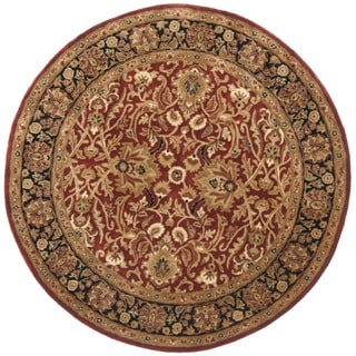Safavieh Handmade Persian Legend Rust/ Black Wool Rug (8' Round)