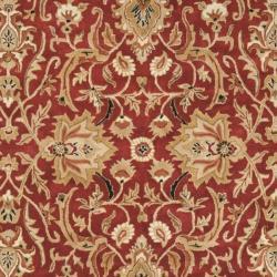 Safavieh Handmade Persian Legend Rust/ Black Wool Rug (7'6 x 9'6) - Thumbnail 2