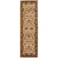 "Safavieh Handmade Persian Legend Ivory/ Black Wool Rug - 2'6"" x 10'"