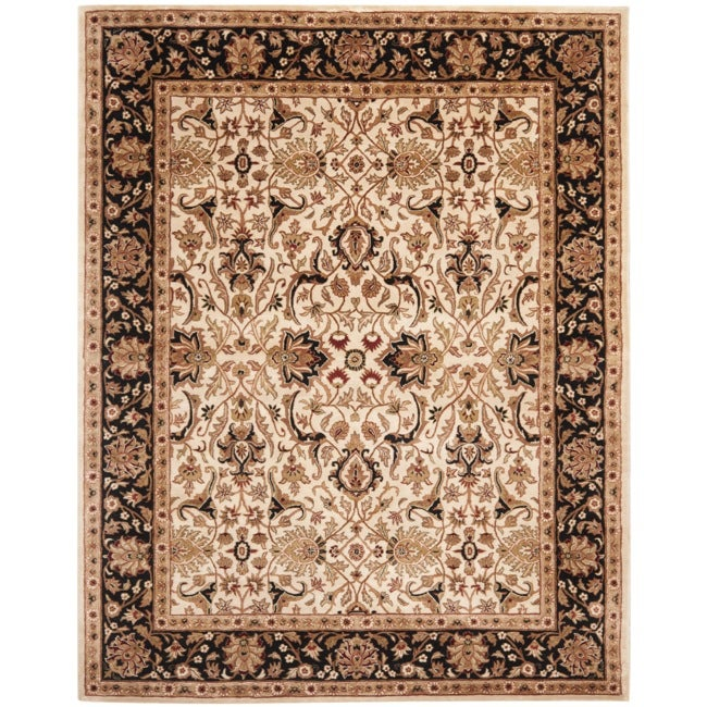 Shop Safavieh Handmade Persian Legend Ivory Rust Wool Area: Shop Safavieh Handmade Persian Legend Ivory/ Black Wool