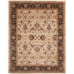 Safavieh Handmade Persian Legend Ivory/ Black Wool Rug (7'6 x 9'6)