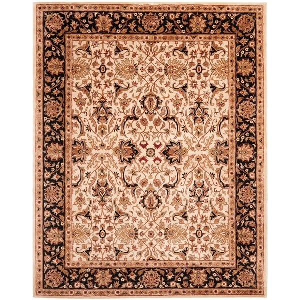 "Safavieh Handmade Persian Legend Ivory/ Black Wool Rug - 7'6"" x 9'6"""