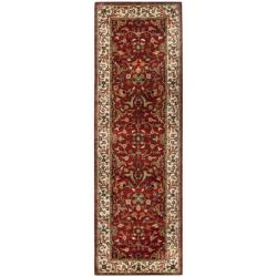 "Safavieh Handmade Persian Legend Red/Ivory Wool Runner Rug (2'6"" x 12')"
